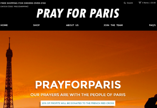 prayforparis.com