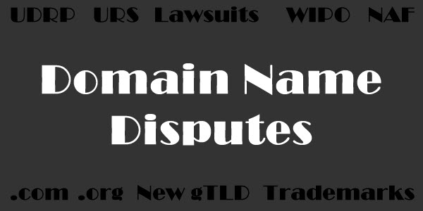 Domain name dispute decision says it is a basic right to register a domain name and sell it at a profit