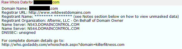 Here is how to Opt-out of domain name WHOIS masking at GoDaddy