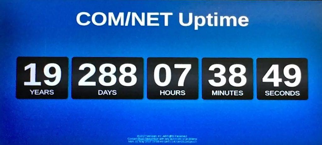 .com .net uptime