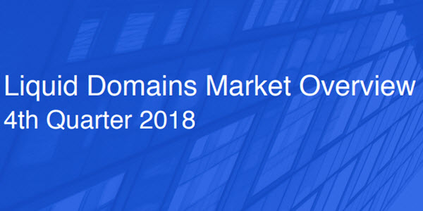 Liquid domains market: $8.6M in escrow.com recorded sales for 4Ls